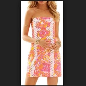 New Lilly Pulitzer Tansy Dress Orange/Pink/White